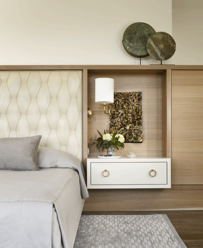 12 chic floating bedside tables connecticut in style for Bed with floating nightstands