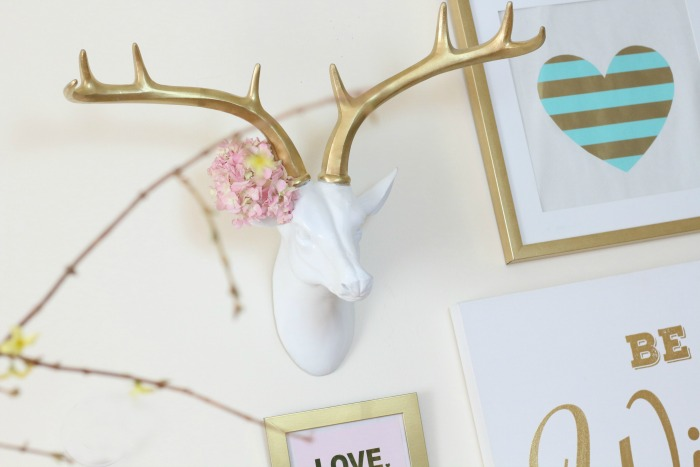 Gallery Wall with Faux Deer