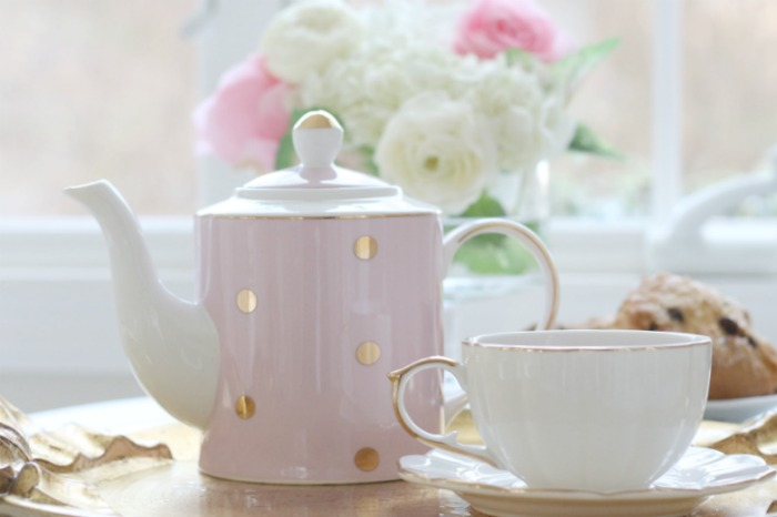 Pink Teapot and flowers