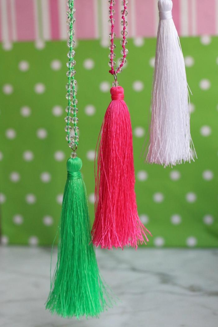 Three Silk Tassel Necklaces 1