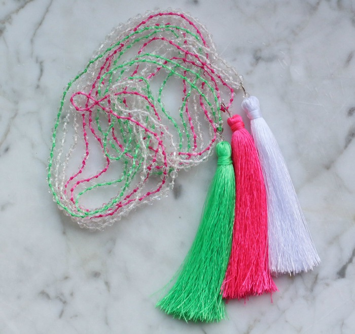 Three tassel necklaces