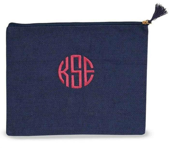 Mud Pie Monogram Tassel Bag