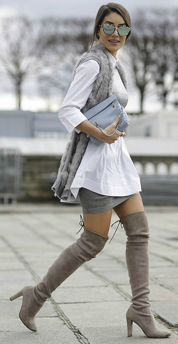 3fa72dd7eda How to wear thigh high boots - Connecticut in Style