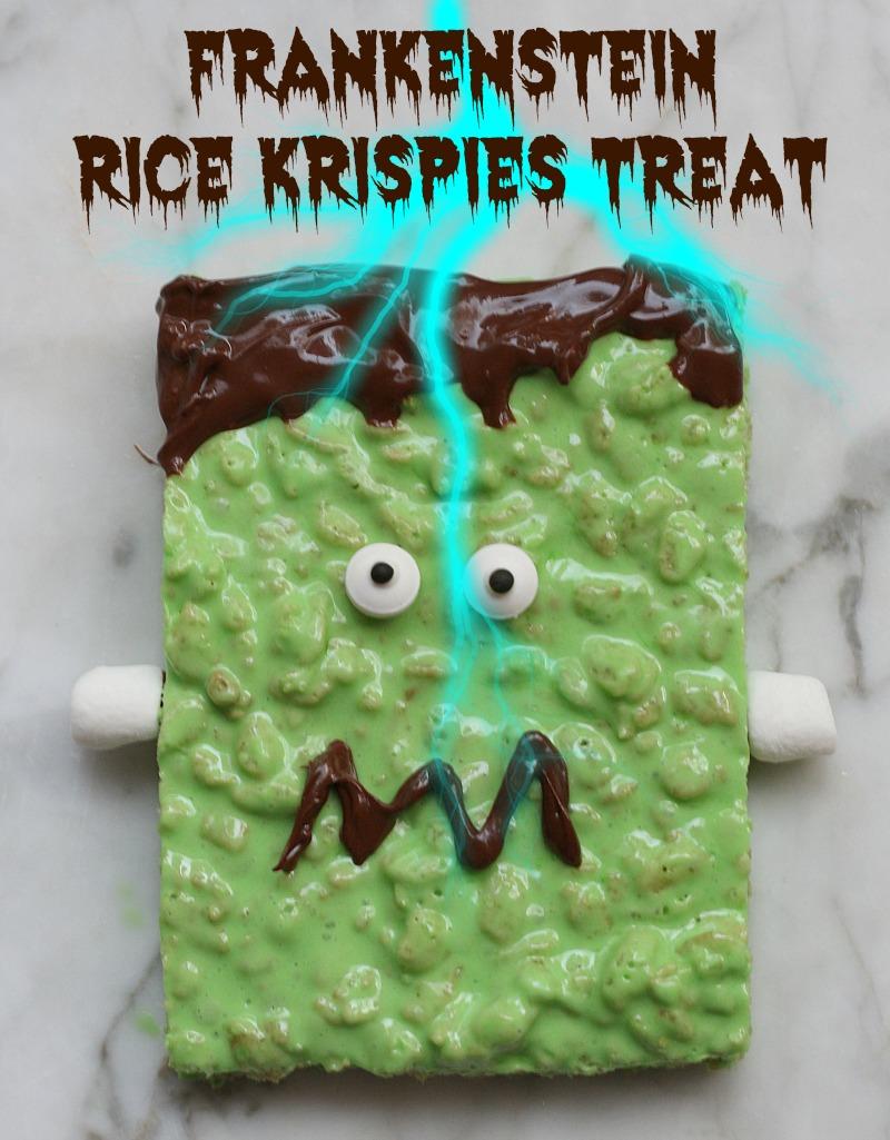 frankenstein rice krispies treat