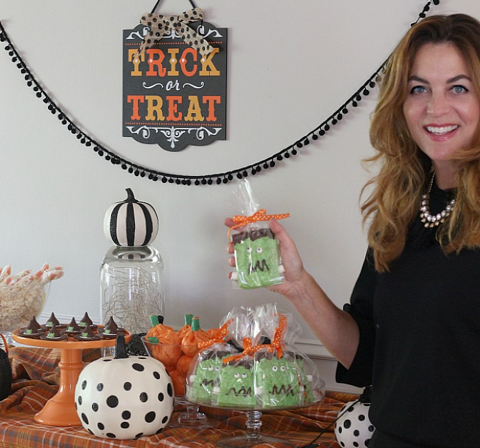 Halloween Treats – Frankenstein Rice Krispies