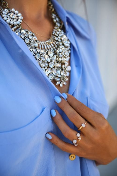 Pretty with blue