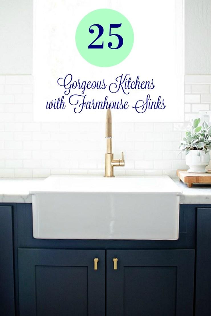 25 Gorgeous Kitchens with Farmhouse Sinks