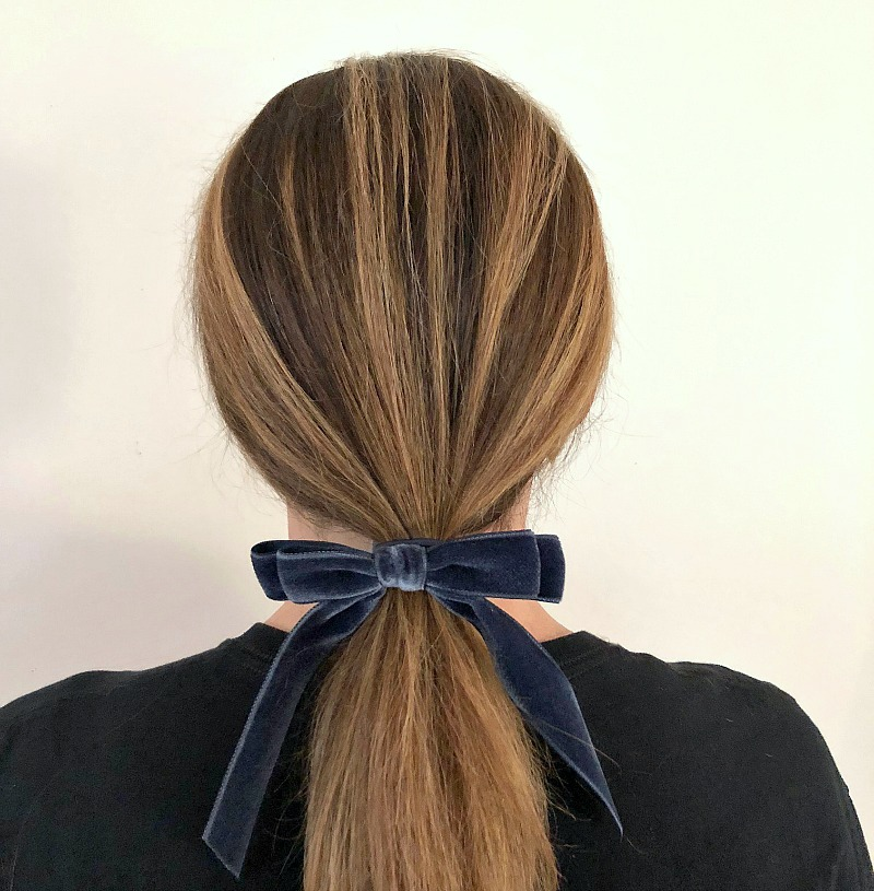 J. Crew gets us. So wear a ponytail ac95e5eed32