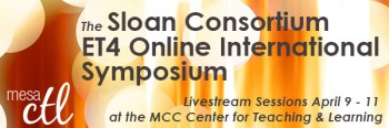 Sloan ET4 Online Symposium Livestream in the MCC CTL April 9-11