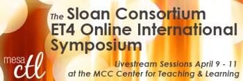Sloan ET4 Online Symposium Livestream in the MCC CTL April 9-11
