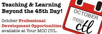 CTL Professional Development Opportunities in October