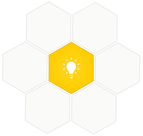 Geographic shape-like flower with light bulb in the center