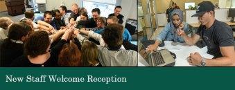 New Staff Welcome Reception Logo