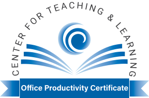 Center for Teaching and Learning - Office Productivity Certificate