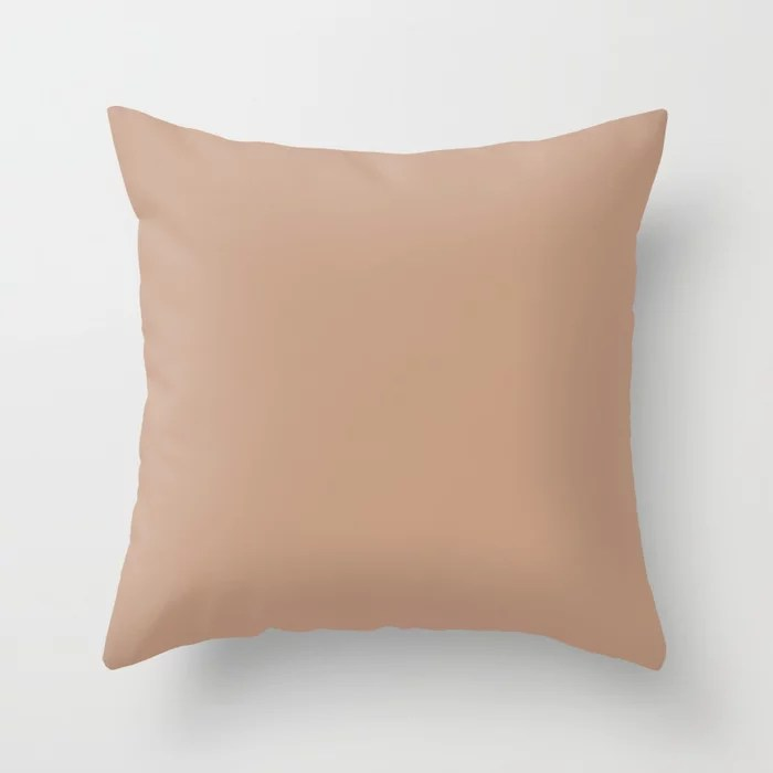 Blush Pink Solid Color Pairs To Behr's 2021 Trending Hue Canyon Dusk S210-4 Throw Pillow
