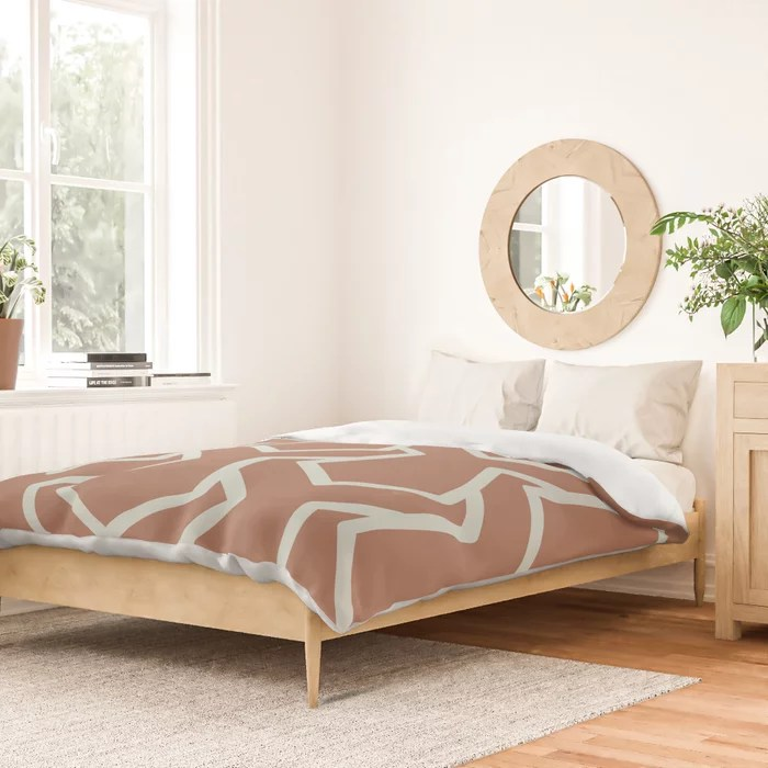 Mint Green and Terracotta Tessellation Pattern 11 Behr 2022 Color of the Year Breezeway MQ3-21 Duvet Cover. Color forecast 2022