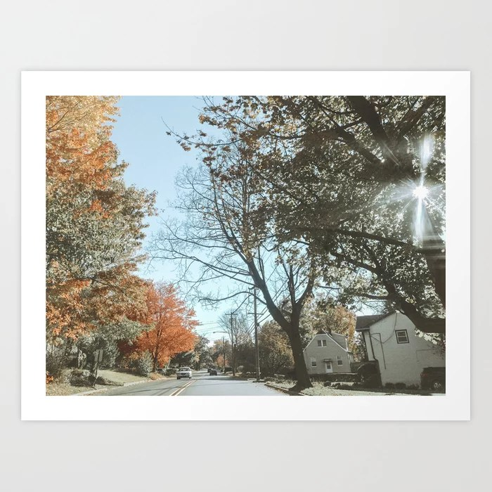 """Autumn Drive"" Art Print 