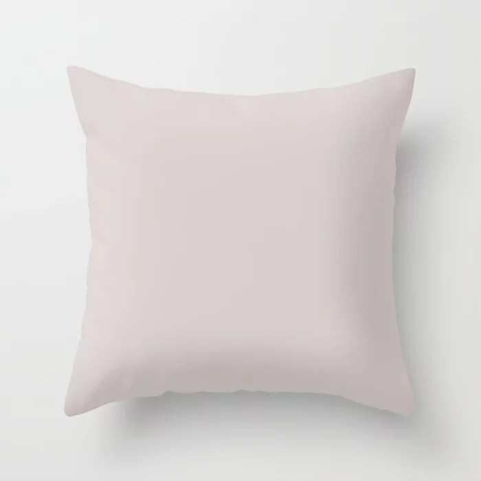 Solid Color Pale Pinkish Purple Pairs to Pantone 13-3803 Lilac Ash Throw Pillow