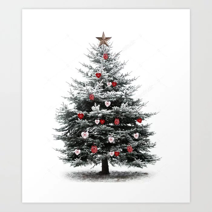 Sunday's Society6 | Christmas tree art print