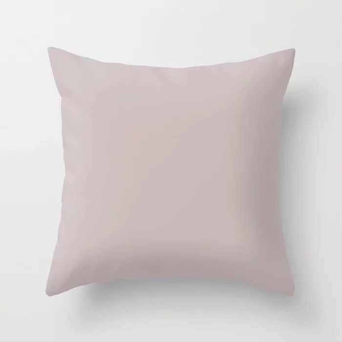 Light Pastel Purple Solid Color Accent Shade Matches Sherwin Williams Studio Mauve SW 0062 Throw Pillow