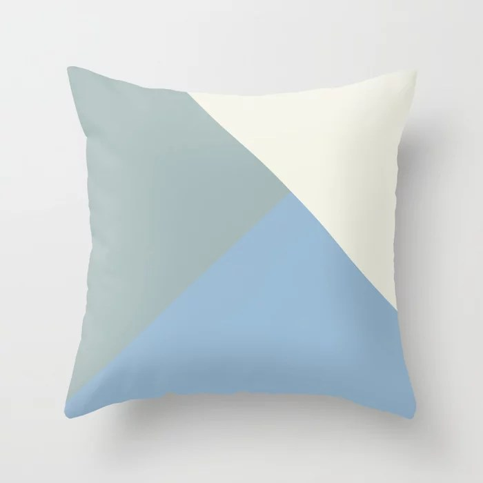Pastel Blue Off White Aqua Solid Color Shapes Throw Pillows inspired by and pairs to (matches / coordinates with) Dutch Boy 2021 Color of the Year Earth's Harmony & Accent Hues
