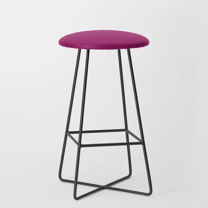 Orchid Flower Deep Pink Purple Solid Color 2022 Colour of the Year Bar Stool. 2022 color trend - color scheme