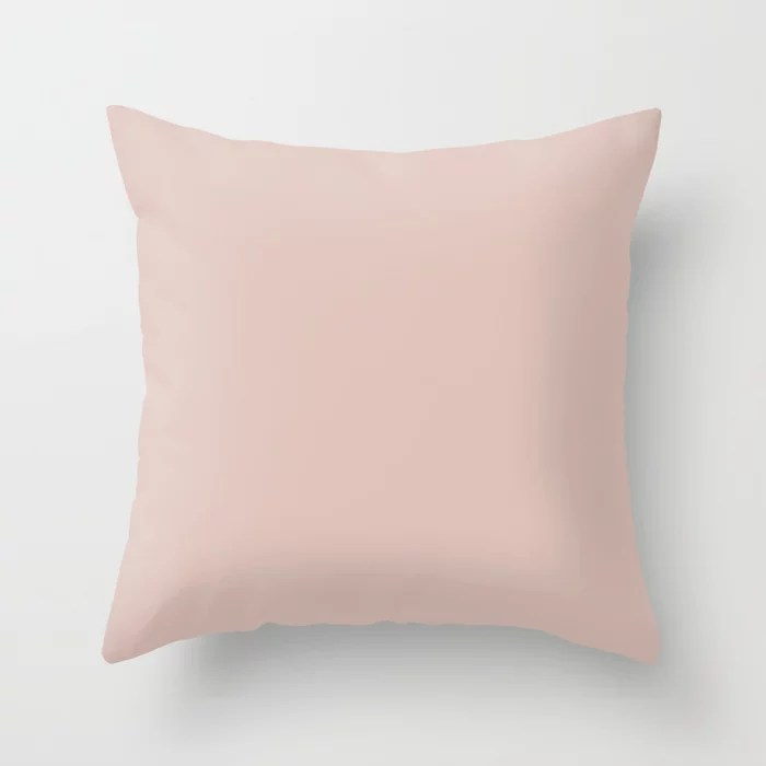 Pastel Lace Solid Color Accent Shade Matches Sherwin Williams Pink Shadow SW 0070 Throw Pillow