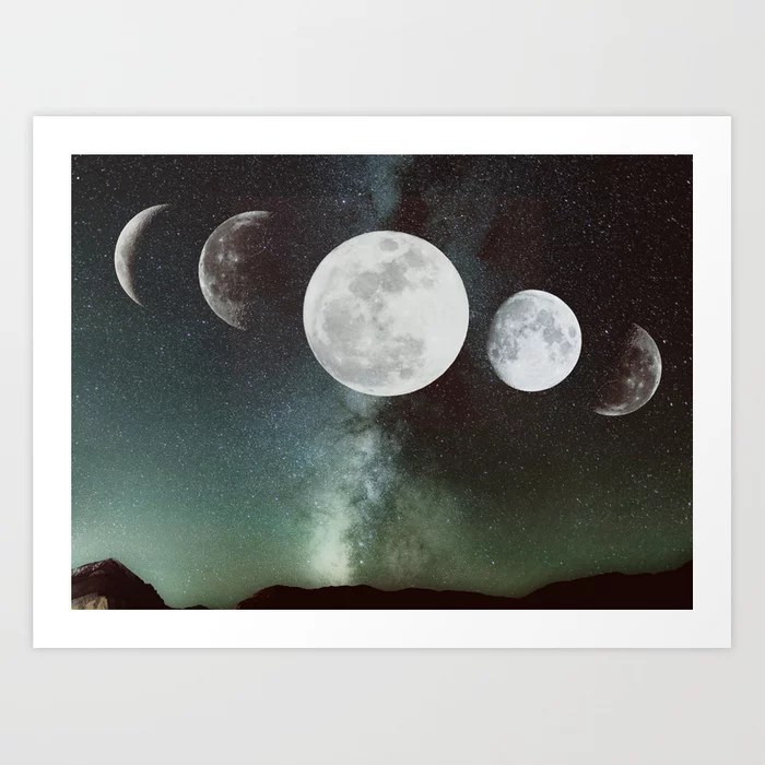 Sunday's Society6 | Moon phases art print