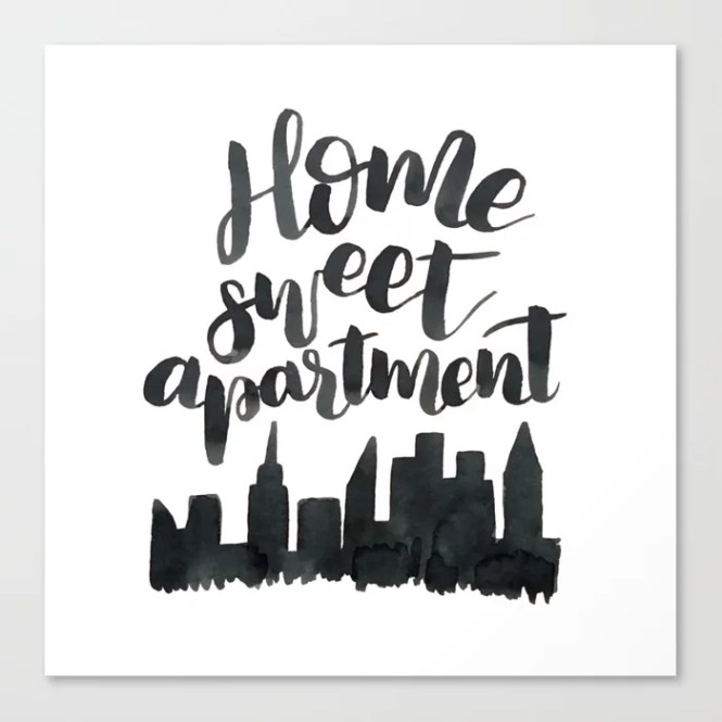 Home Sweet Apartment Nyc Canvas Print By Cococreatess