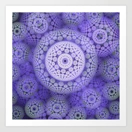 Circles and patterns, fractal geometric abstract Art Print