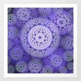 Circles and patterns, fractal geometric abstract Art Print