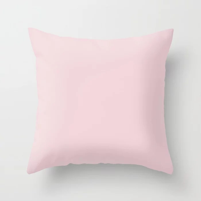 Light Pink Solid Color Pairs To Sherwin Williams Priscilla SW 6575 Throw Pillow