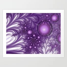 A mysterious Place abstract Fractal Art Art Print