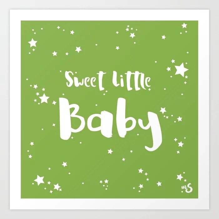 Sunday's Society6 | Sweet little baby greenery art print