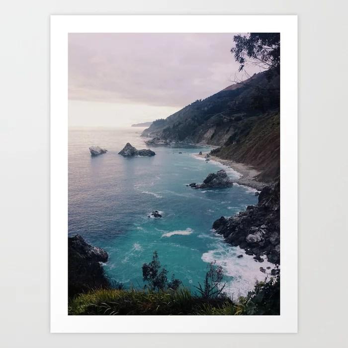 Sunday's Society6 | Outdoor Big Sur sunset art print