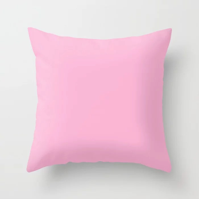 From The Crayon Box – Magenta Pink - Pastel Pink Solid Color Throw Pillow