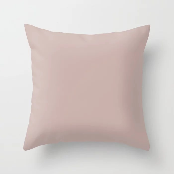 Slightly Blushed Light Pastel Pink Solid Color - All Colour - Single Shade Insightful Rose SW 6023 Throw Pillow
