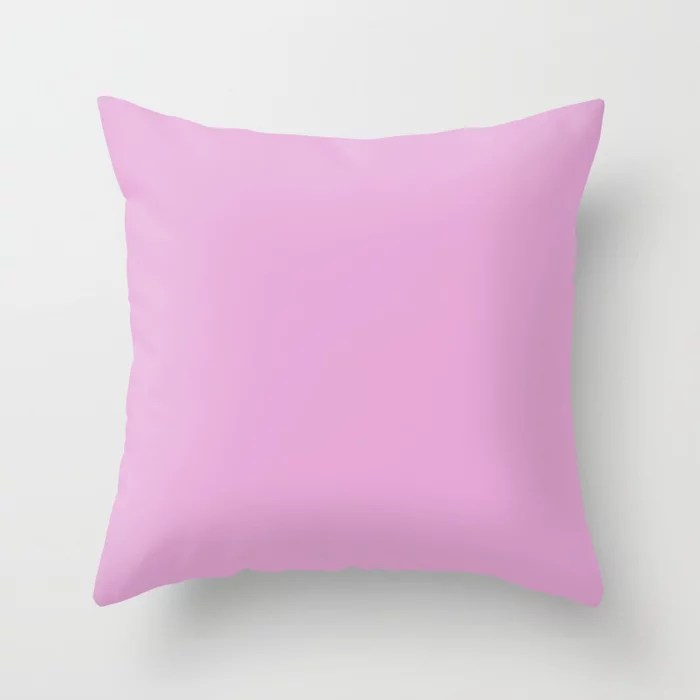 From The Crayon Box – Inspired by Razzle Dazzle Rose - Pastel Purple Solid Color Throw Pillow