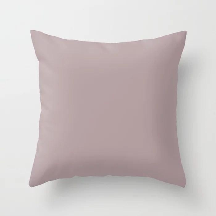 Behr Roaring Twenties (Muted Pastel Pink) N120-4 Solid Color Throw Pillow