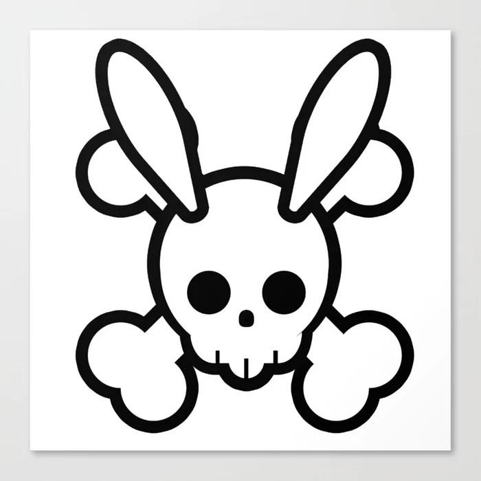 Bunny Skull Crossbones Canvas Print By Blackstreakentertainment Society6