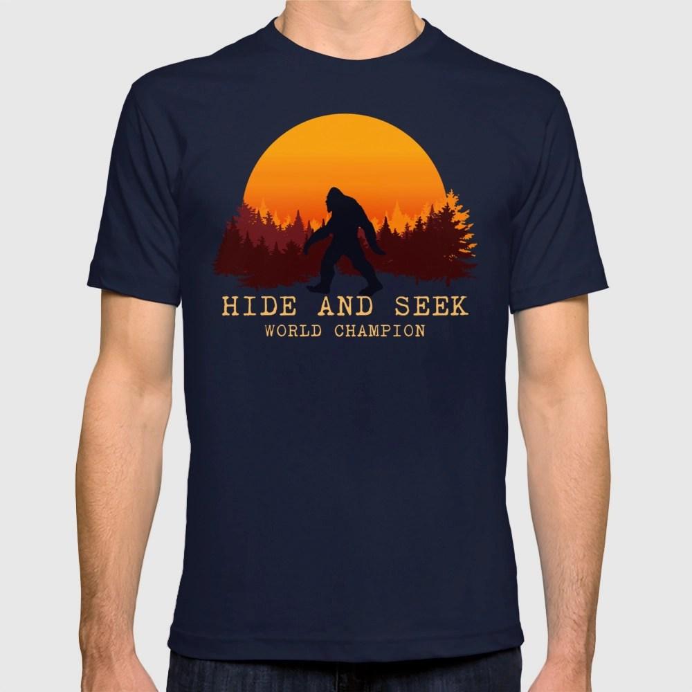 Bigfoot Hide And Seek World Champion T Shirt