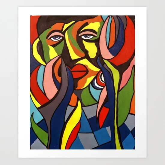 African Traditional Tribal Women Abstract Art Canvas Painting Series 3 Art Print By Minimalisteez Society6
