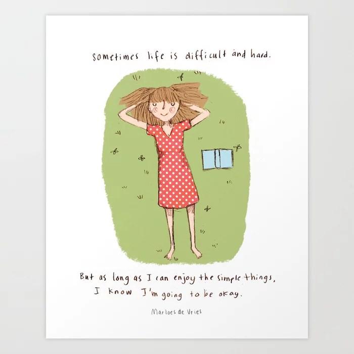Sunday's Society6 | Illustration girl summer