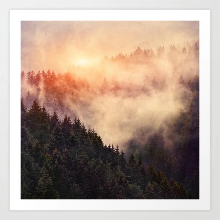 Sunday's Society6 | Outdoor misty wood art print
