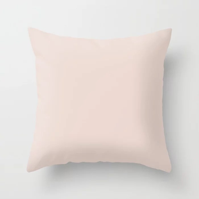 Touch of Rose Pink Solid Color Pairs To PPG 2021 Trending Hue Winter Peach PPG1060-1 Throw Pillow
