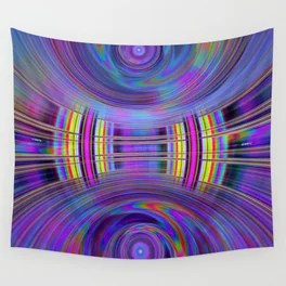 Dynamic fractal abstract in rainbow colors Wall Tapestry