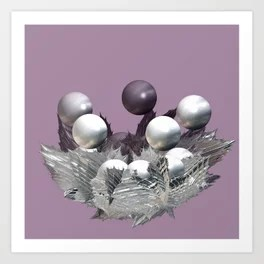Spikes and Spheres Art Print