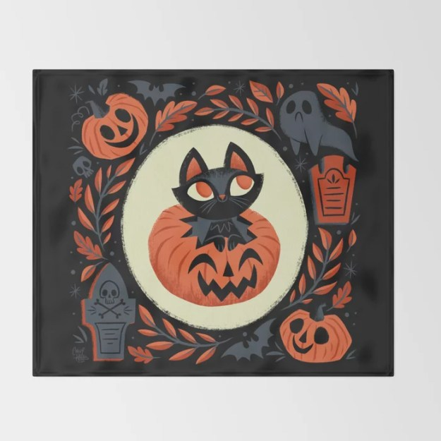 Happy Halloween Throw Blanket by There Will Be Cute