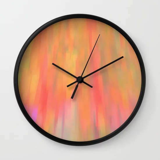 Color Fall Wall Clock