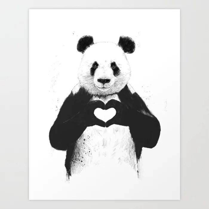 Sunday's Society6 | Valentine's day love panda art print
